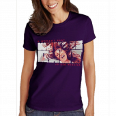 """Jo Dee Messina Ladies Purple """"Rant"""" Tee"""