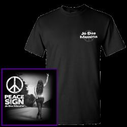 Jo Dee Messina Black Tee- Peace Sign